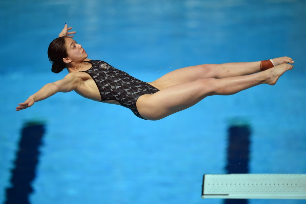 Commonwealth Games gold medallist Esther Qin was second in the 3m semi-final