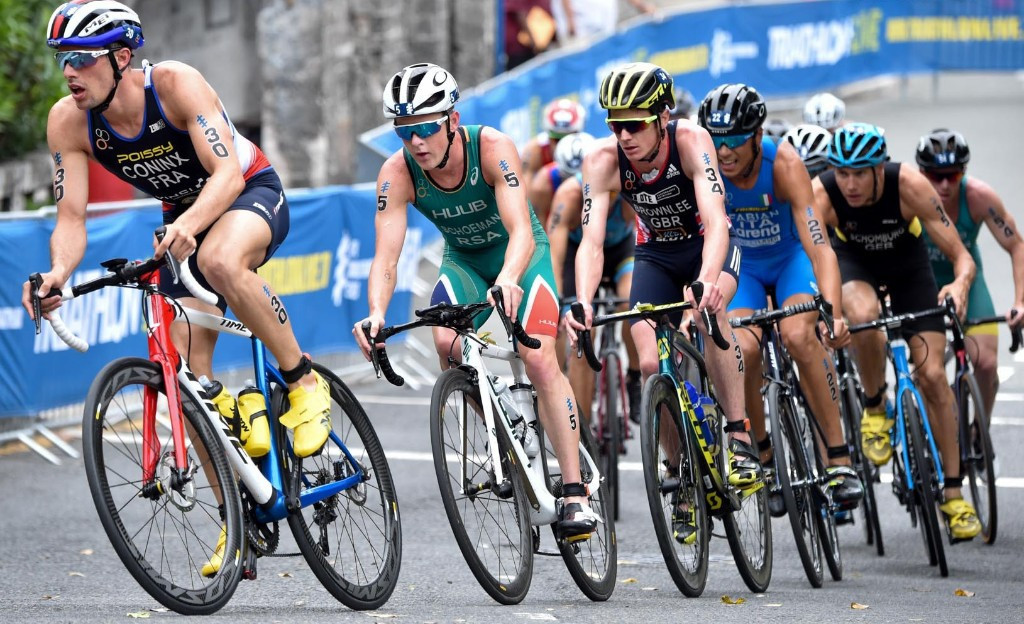 France's Dorien Coninx claimed his first ITU World Triathlon Series victory in Bermuda ©ITU