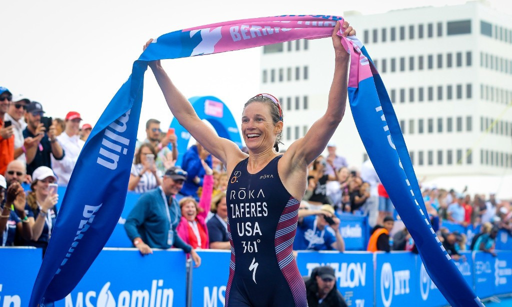America's Katie Zaferes won the ITU World Triathlon Series in Bermuda ©ITU