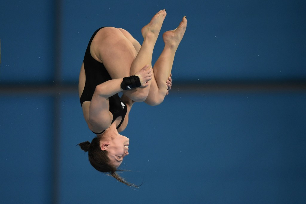 Canada's Roseline Filion earned gold in the women's 10m platform event