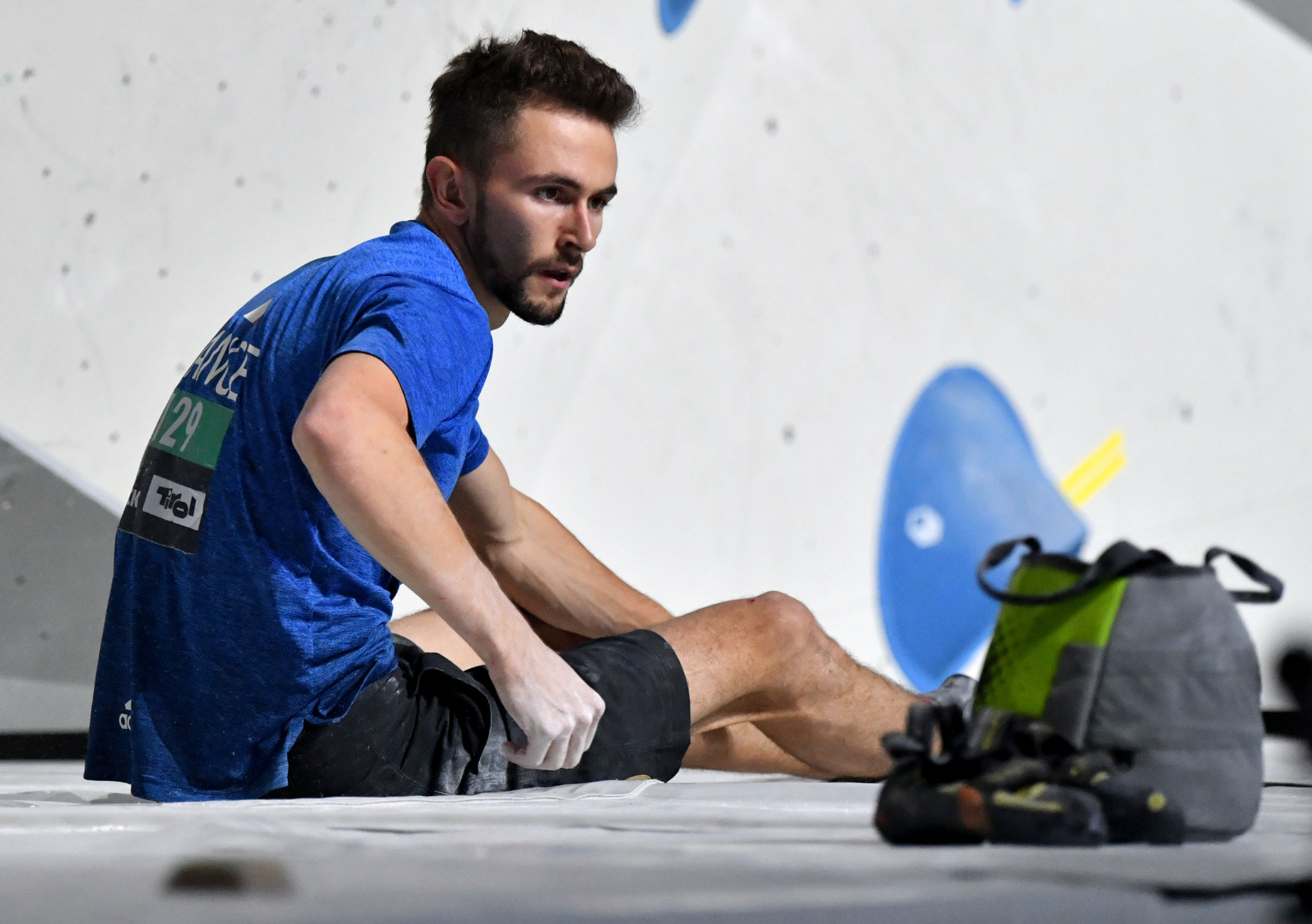 France's Manuel Cornu took his first title of the season at the IFSC World Cup in Chongqing ©Getty Images