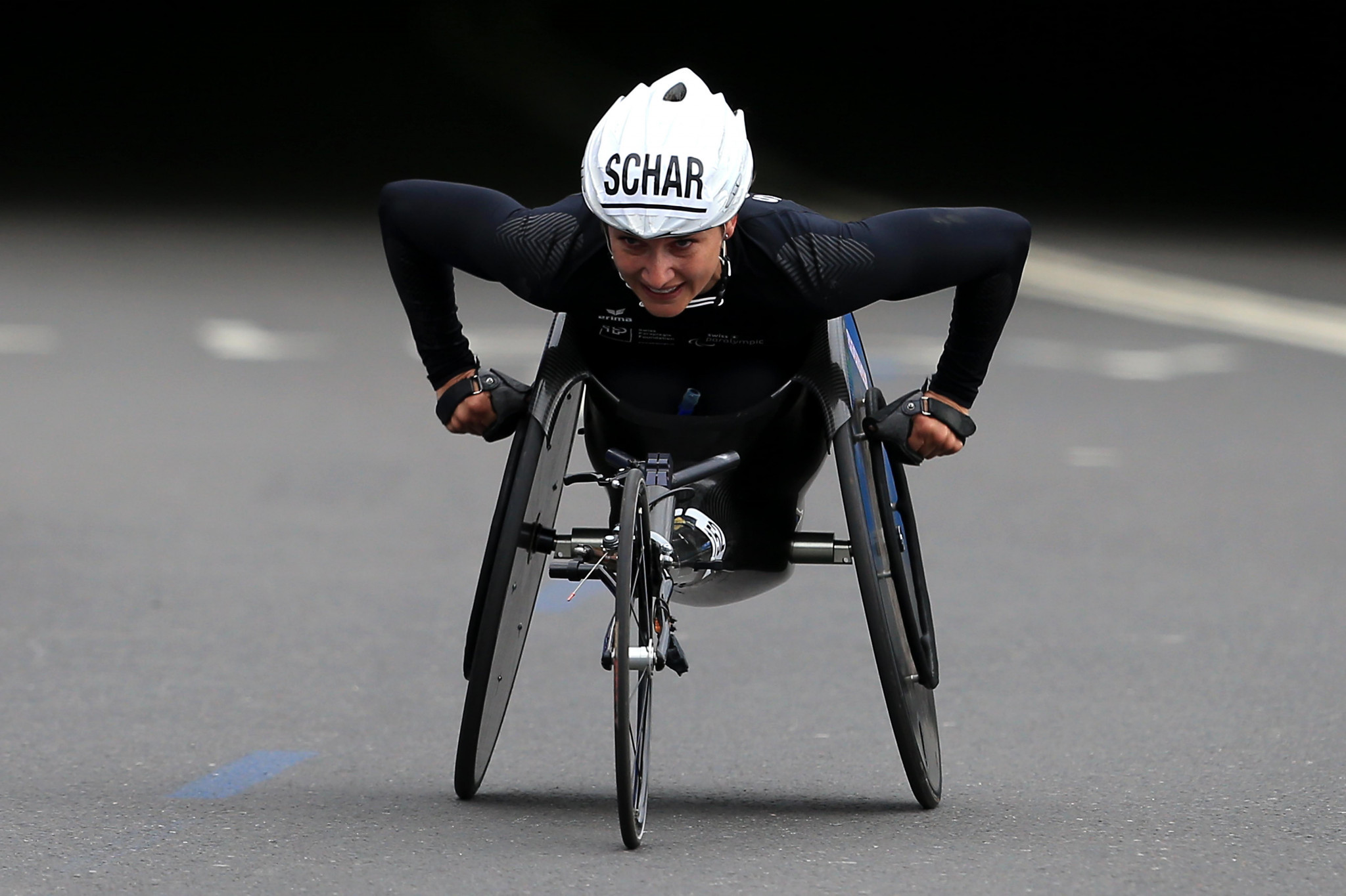 Manuela Schär continued her domination of the women's wheelchair marathon races ©Getty Images
