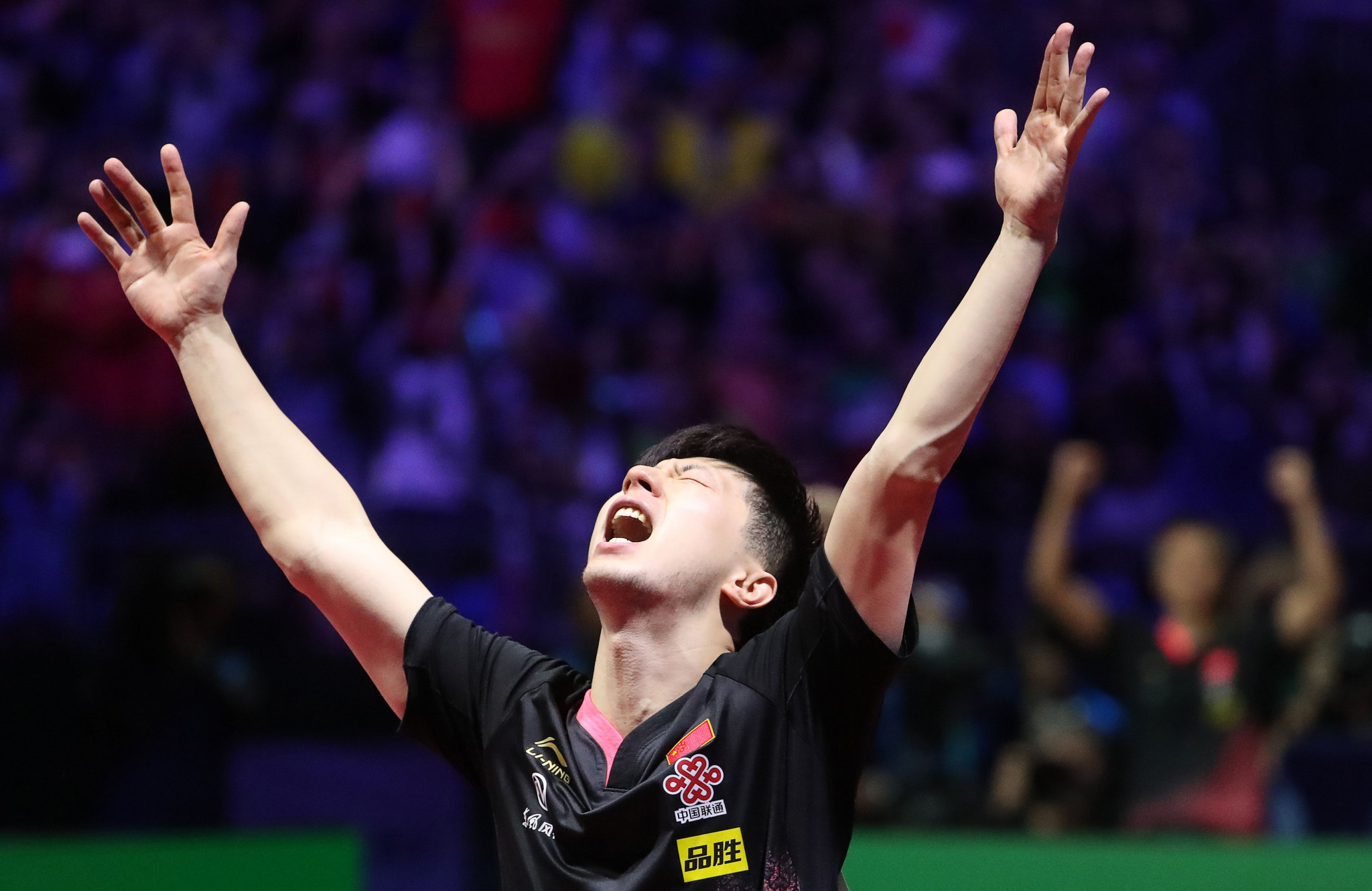 Ma Long of China earned his third consecutive men's title at the ITTF World Championships ©Getty Images