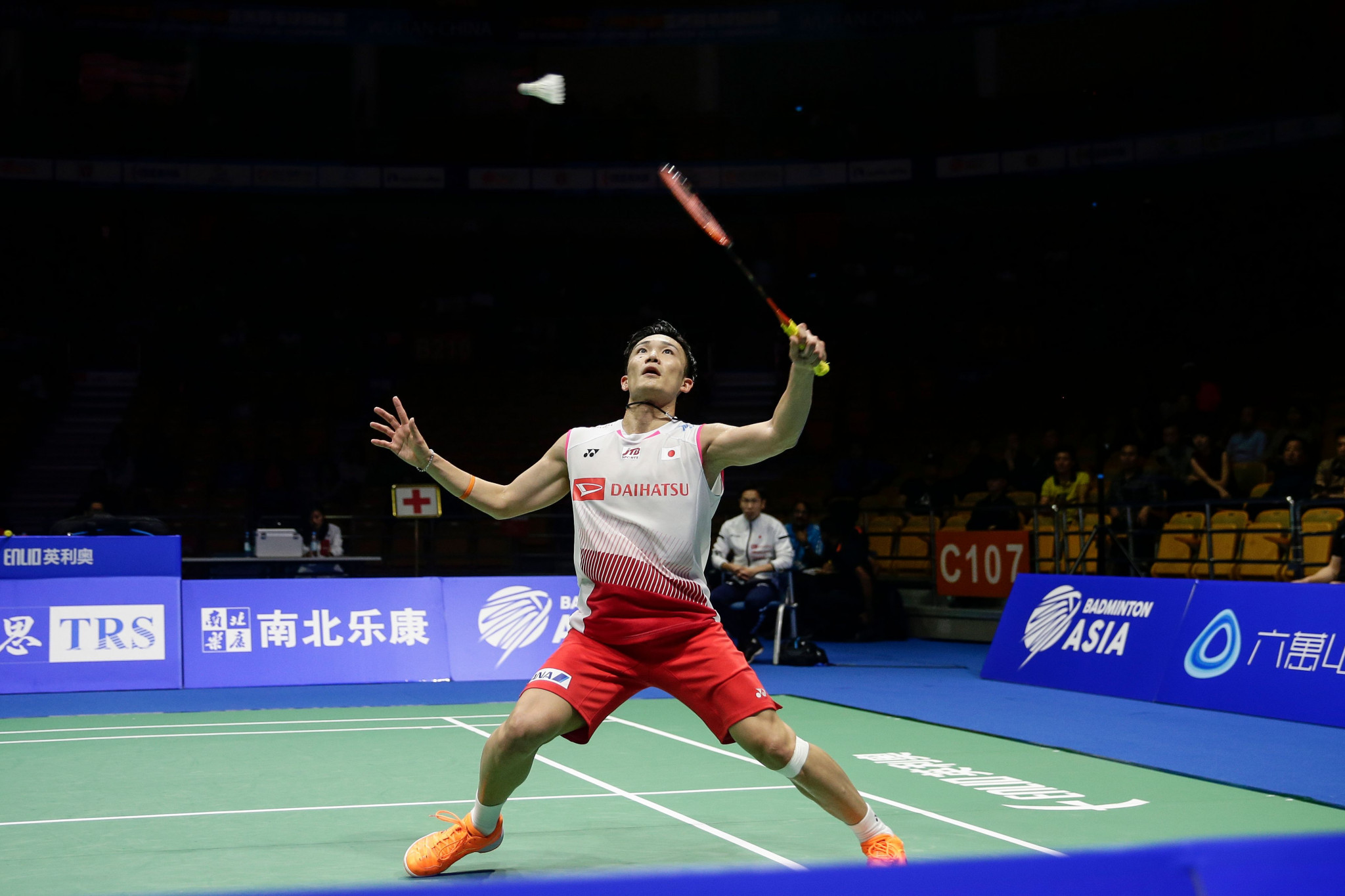 World champion Kento Momota retained his men's singles title in Wuhan ©Getty Images
