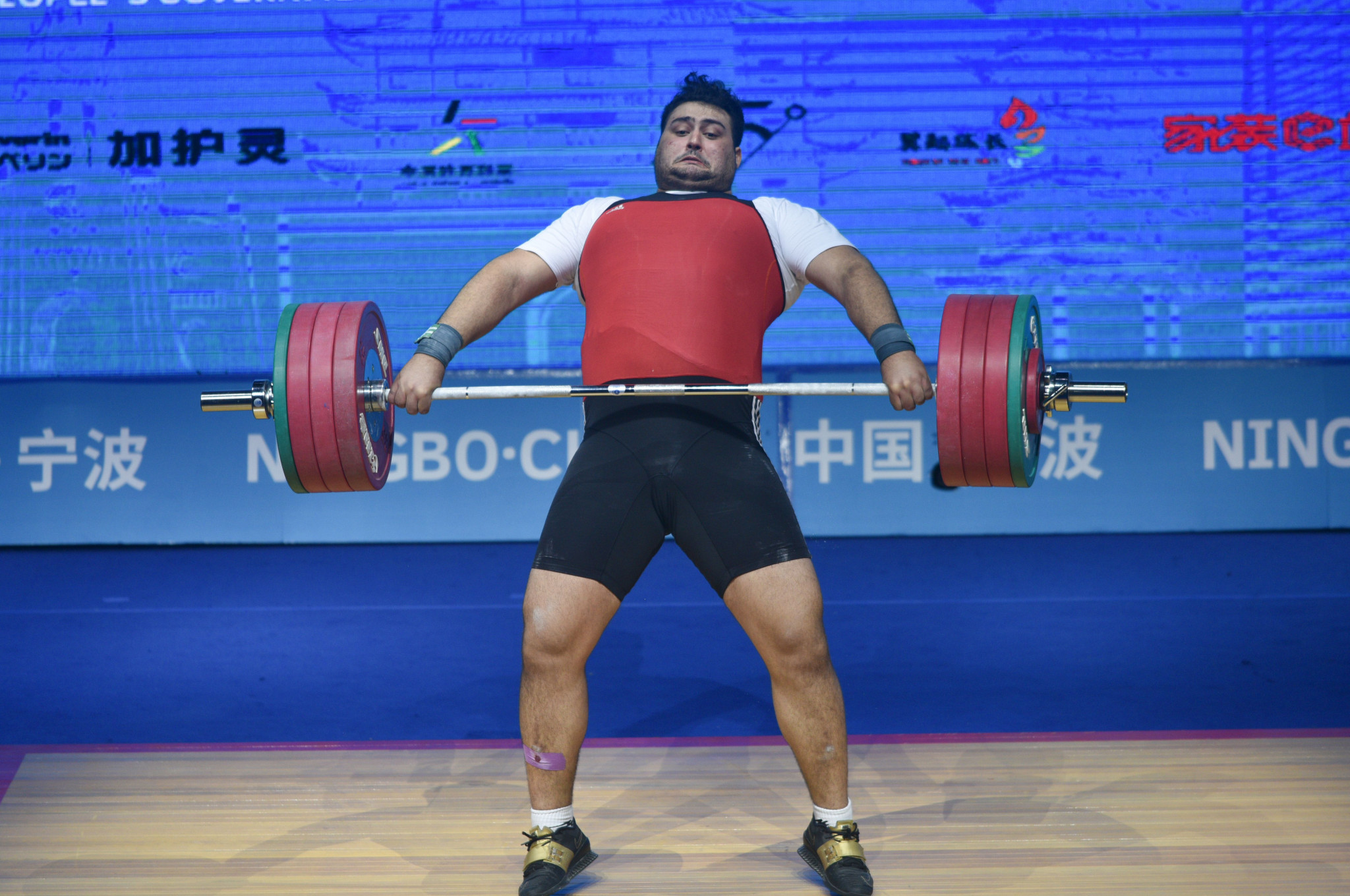 World junior champion Ali Davoudi of Iran dominated the men's heavyweight category ©Getty Images