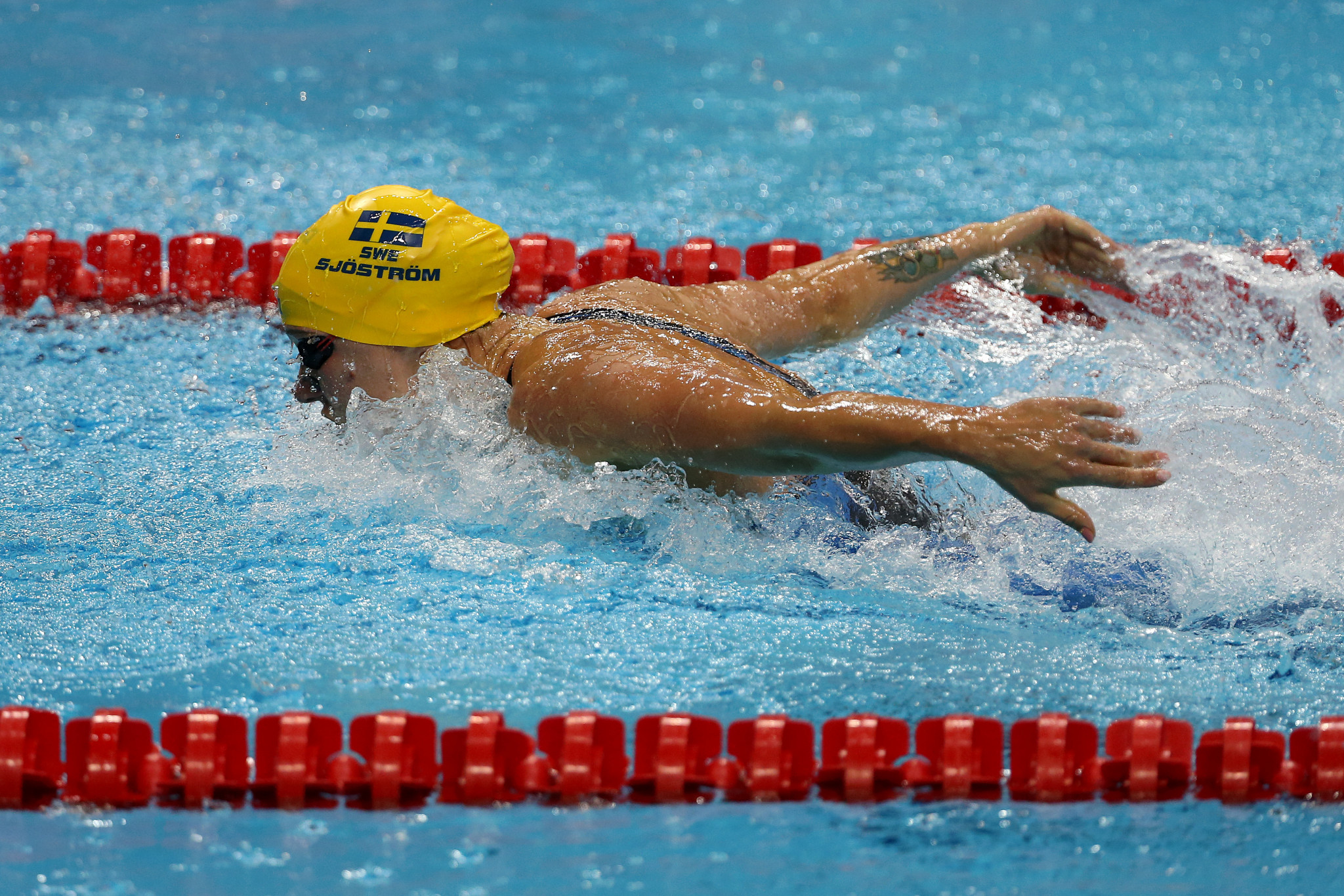 Sweden's Sarah Sjostrom finished the FINA Champions Swim Series in Guangzhou with four gold medals ©Getty Images