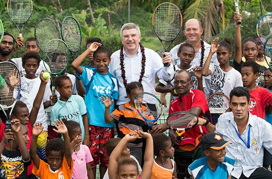 "Vanuatu has shown ""true Olympic spirit"" since Cyclone Pam, praises Bach during visit"