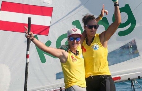 Austrian duo recover from disqualification to share women's 470 overall lead at ISAF World Cup