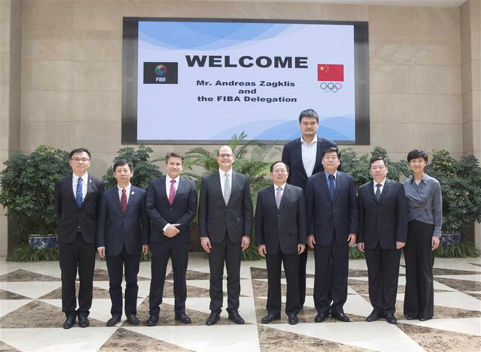 International Basketball Federation secretary general Andreas Zagklis has praised preparations for the 2019 World Cup in China during a visit to Beijing ©FIBA