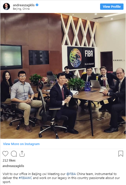 FIBA secretary general Andreas Zagklis took to Instagram to highlight the importance of his visit to Beijing ©andreaszagklis/Instagram