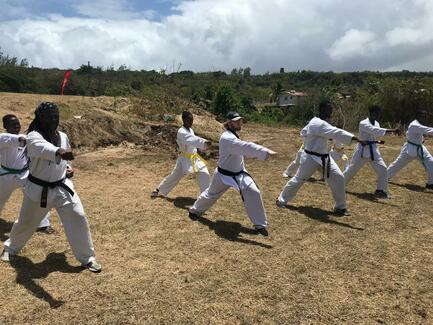 Taekwondo Association of Barbados performs public demonstration on International Day of Sport for Development and Peace