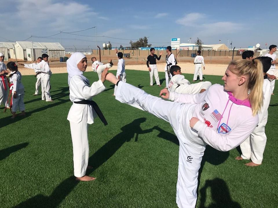 Participants were exposed to different training approaches in taekwondo ©Sports Diplomacy - U.S. Department of State/Facebook