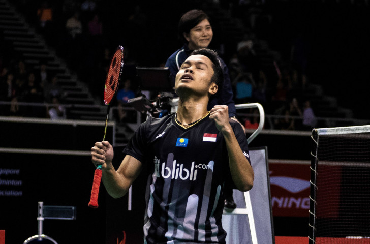 Indonesia's Anthony Ginting, top seed at the BWF New Zealand Open, will start his tournament with a first-round match tomorrow against Bryce Leverdez of France ©Getty Images