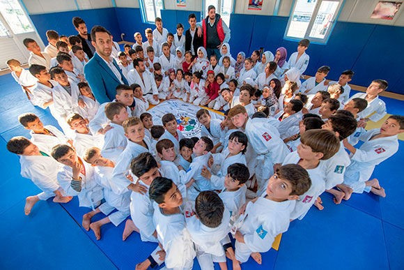 IJF runs a number of educational programmes for children such as Judo for Children and Judo in Schools ©IJF