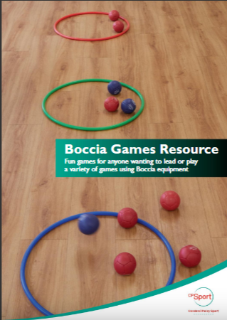 Cerebral Palsy Sport's new Boccia Games Resource has been designed to offer recreational alternatives to boccia using the same equipment ©CPS