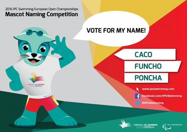 Vote launched to find name for 2016 IPC Swimming European Open Championships mascot