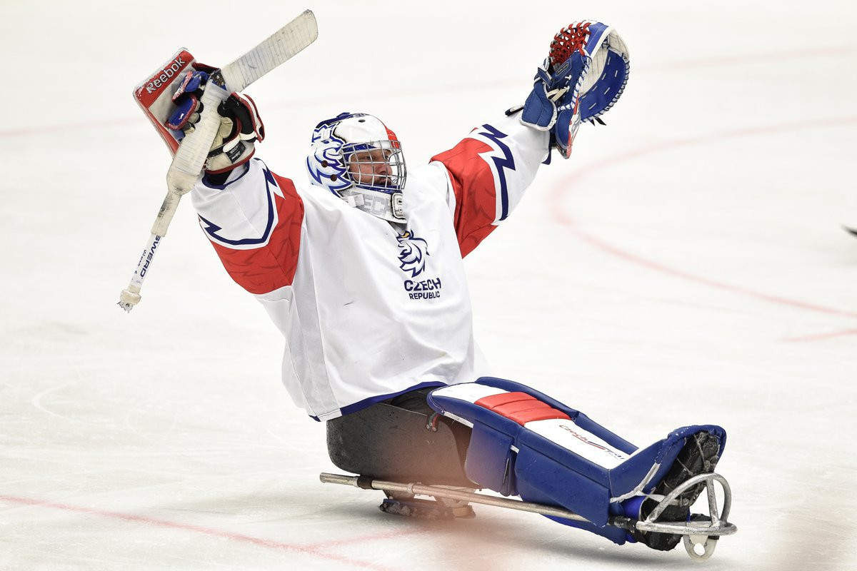 Czech Republic, pictured, and South Korea both booked their place in the semi-finals of the World Para Ice Hockey Championships in Ostrava thanks to wins over Norway and Italy, respectively, today ©Para Ice Hockey/Twitter