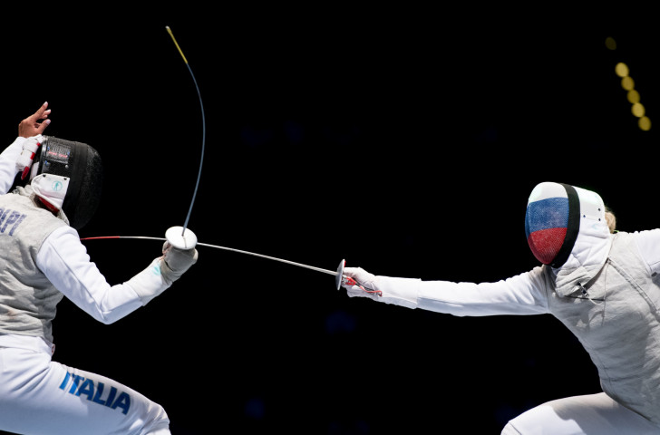 Italy's world champion Alice Volpi, left, and Russia's Rio 2016 champion Inna Deriglazova are seeded to meet in the final of the FIE women's foil World Cup starting in Germany tomorrow ©Getty Images