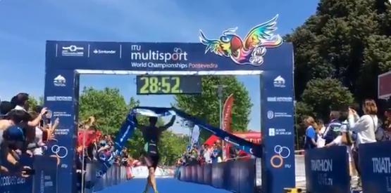 Pevtsov and Ulatowska earn aquathlon titles at ITU Multisport World Championships
