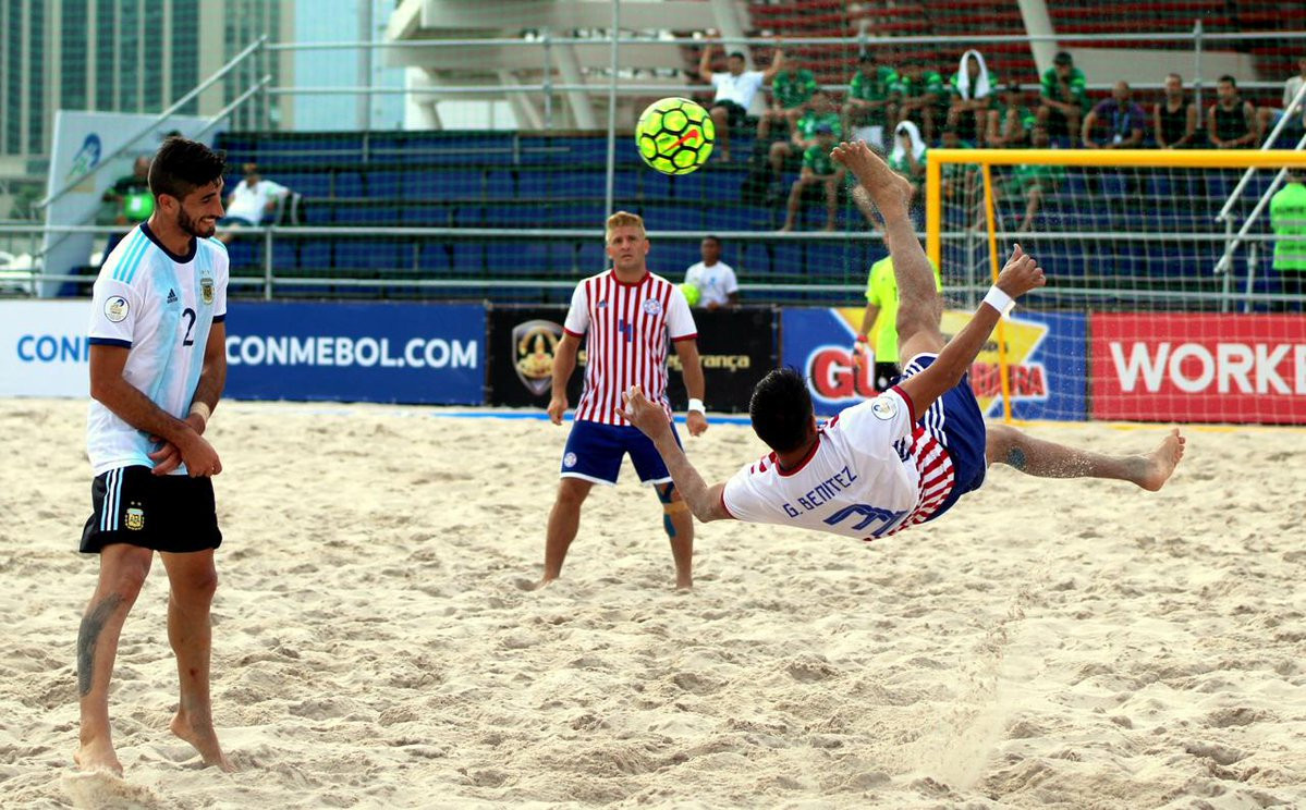 Paraguay beat Argentina 9-3 at CONMEBOL qualifiers for the FIFA Beach Soccer World Cup ©Beach Soccer Worldwide