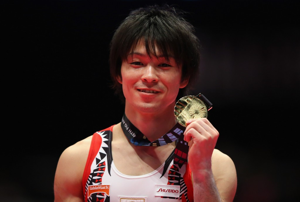 Kohei Uchimura of Japan claimed his sixth-straight all-around title ©Getty Images