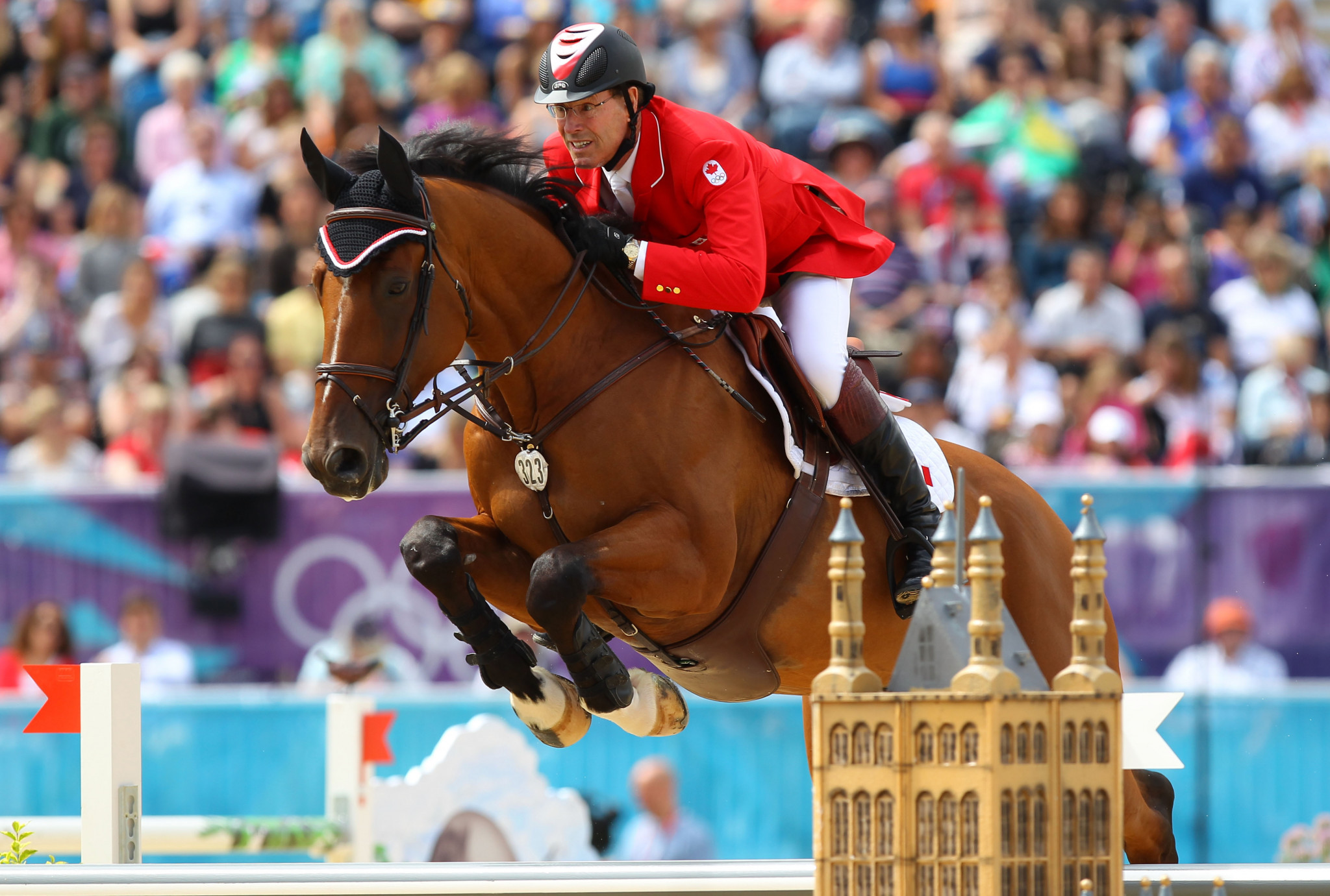Ian Millar made history after competing at the London 2012 Olympic Games, becoming the only athlete to participate in 10 ©Getty Images