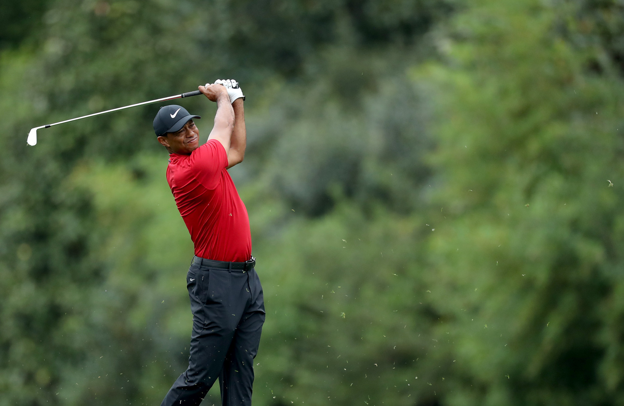 Tiger Woods of the United States has been shortlisted for Team USA's male athlete-of-the-month award ©Getty Images