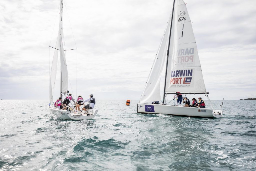Home sailor Hodgson holds on to earn gold at Arafura Games in Darwin
