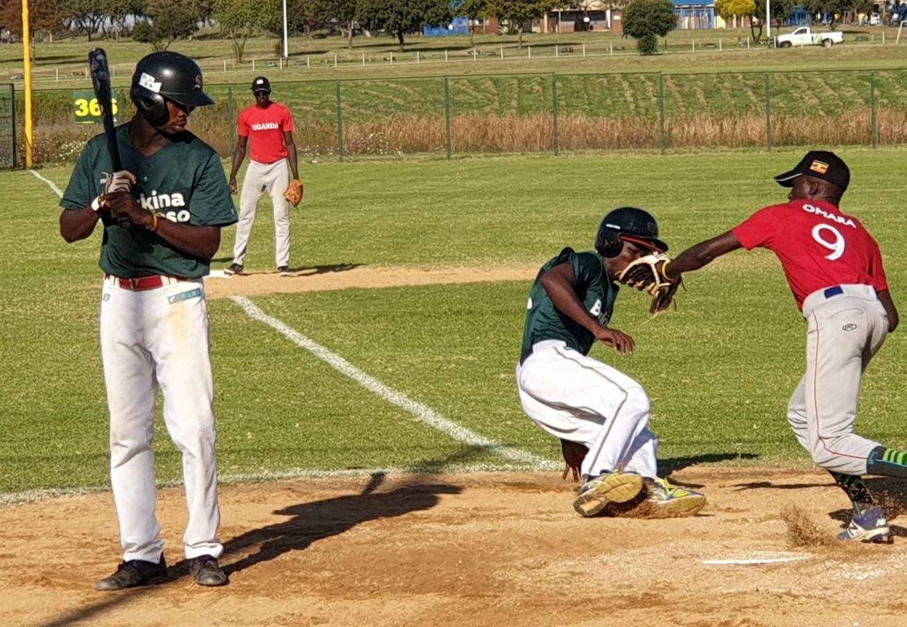 Uganda beat Burkina Faso 21-15 at the Baseball Africa Cup ©WBSC