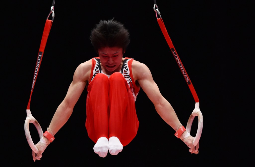 Japan's Kohei Uchmiura put in a superb performance to claim his sixth straight all-around gold