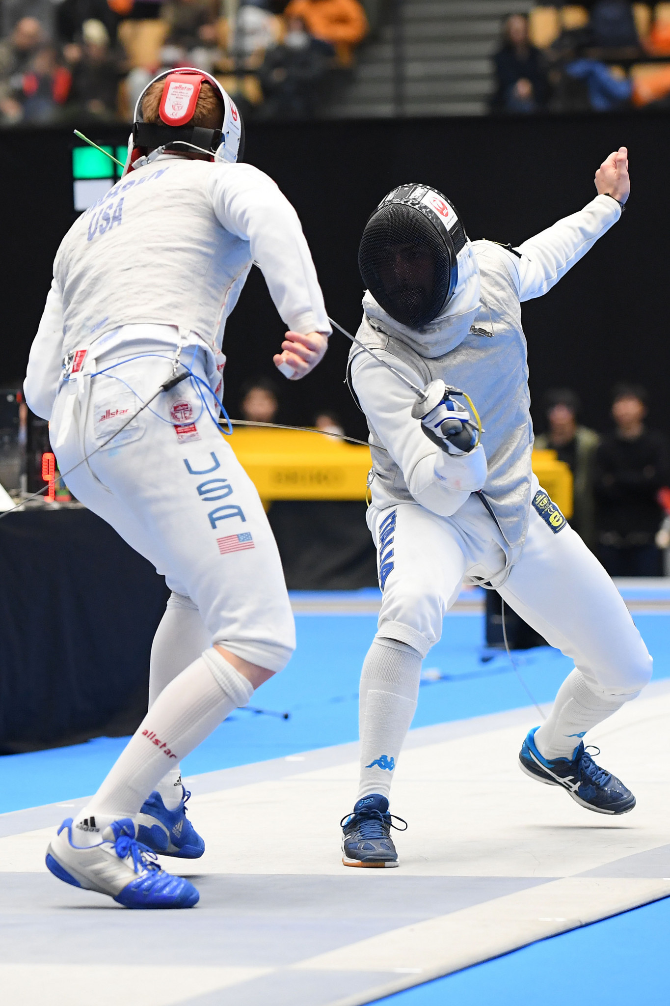 Italy's world champion Alessio Foconi will face qualifier Philip Shin of the United States as he gets into action at the FIE Men's Foil World Cup in Saint Petersburg tomorrow morning ©Getty Images