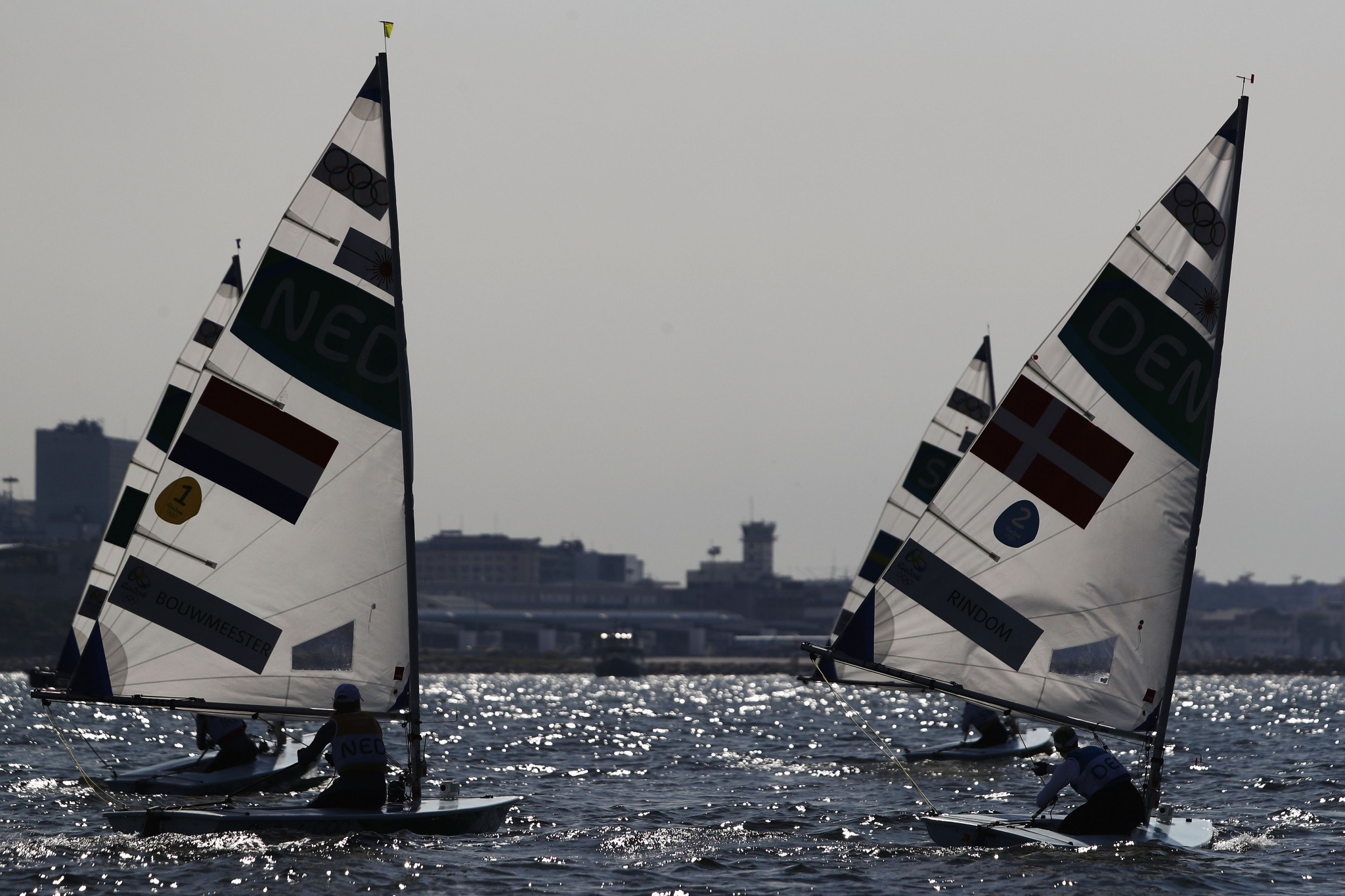 The laser has been the equipment used for one-person sailing events at the Olympic Games since Atlanta 1996 ©Getty Images