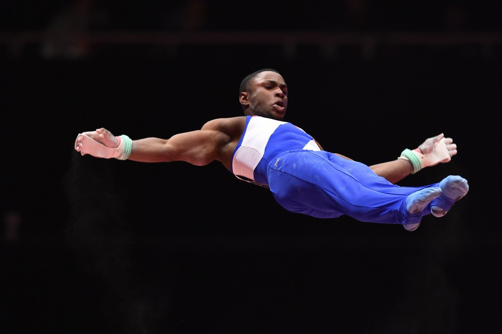 Manrique Larduet became the first Cuban all-around medallist as he earned silver