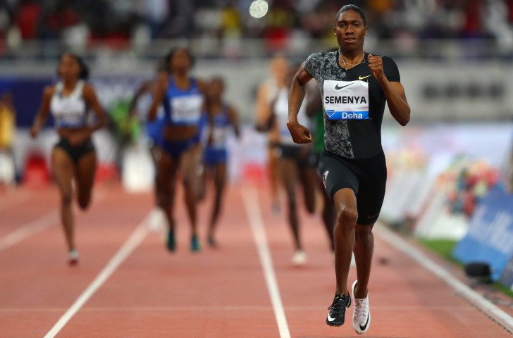 Caster Semenya outclassed world class opposition in the IAAF Diamond League opener in Doha tonight, setting a meeting record of 1min 54.89sec - the eighth fastest time ever run ©Getty Images