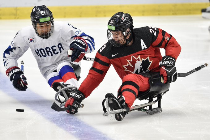 Canada thrashed South Korea 10-0 in their semi-final ©Para Ice Hockey/Twitter