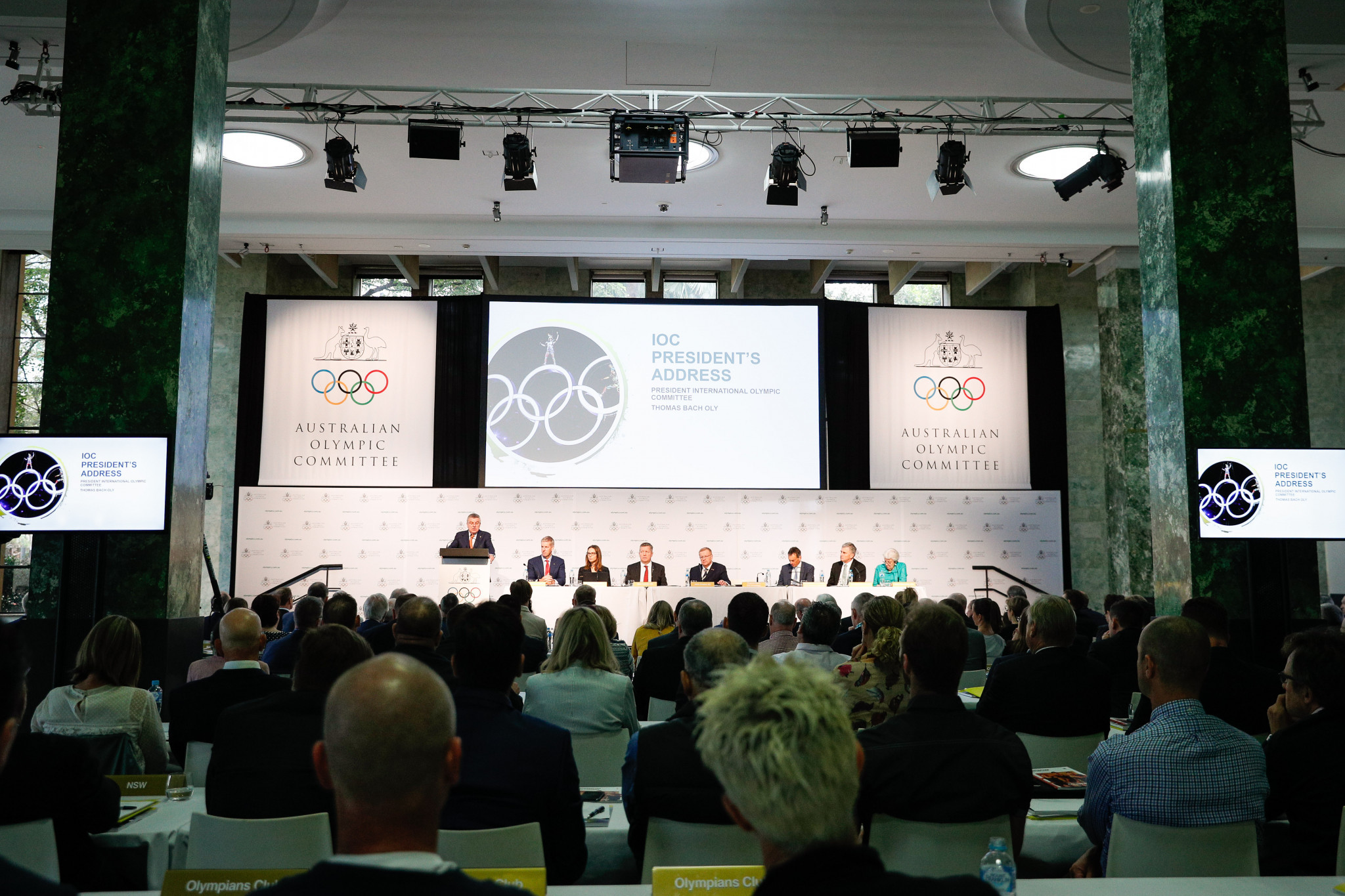 IOC President Thomas Bach told the audience at the Australian Olympic Committee Annual General Meeting he wanted to avoid a bid process where there were