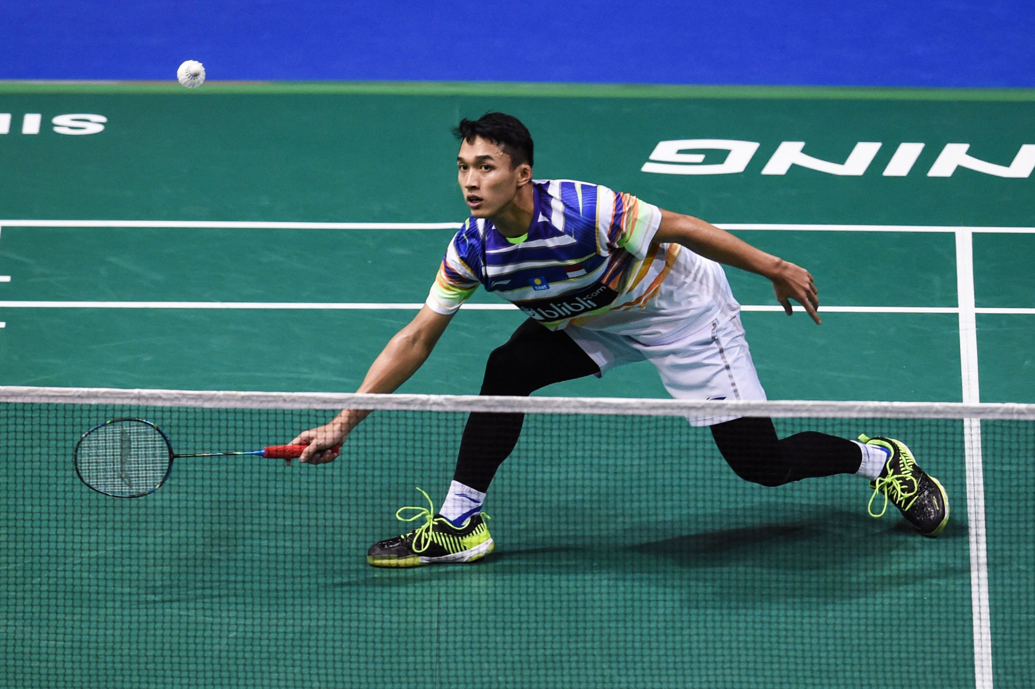 Third seed Jonatan Christie booked his place in the final with victory over Japan's fifth-seeded Kanta Tsuneyama ©Getty Images