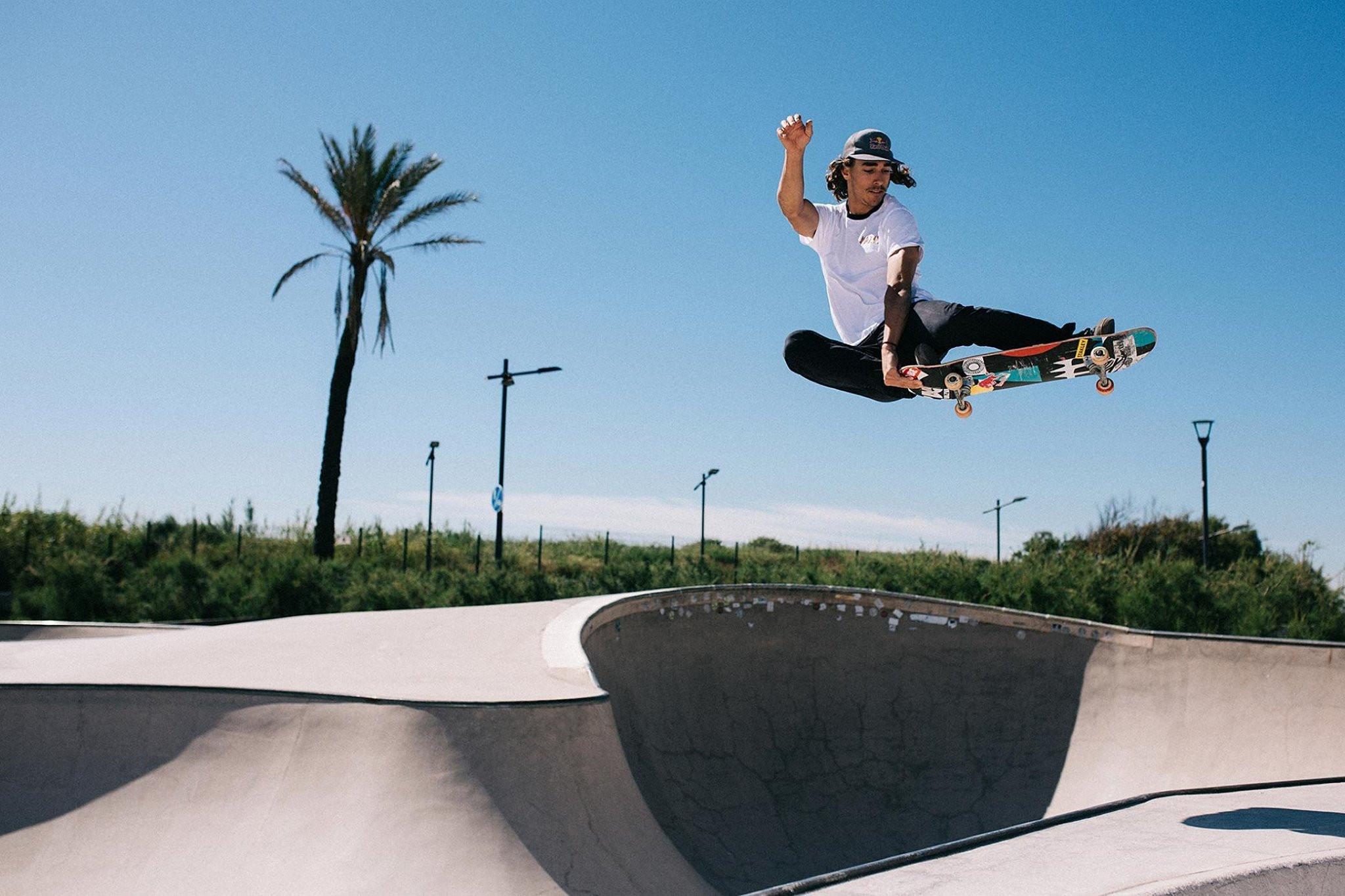 Spain's Danny Leon topped skateboard qualifying at the FISE European Series in Madrid ©Facebook