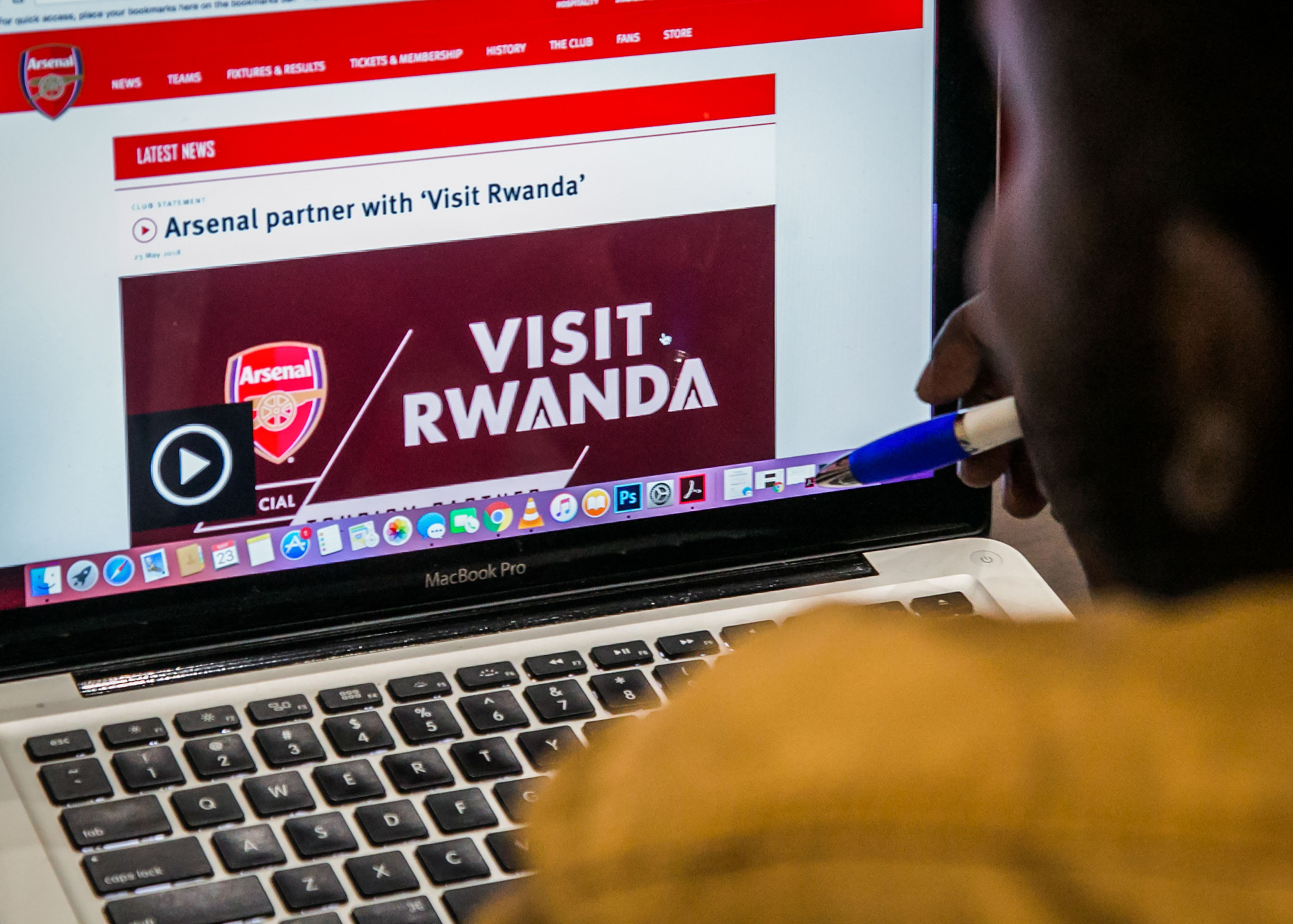 English Premier League team Arsenal faced criticism over their partnership with Rwanda ©Getty Images