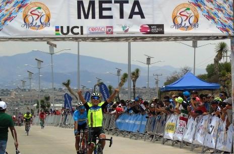 Ecuador's Jimmy Santiago Montenegro Narvaez secured the gold medal in the men's under-23 road race ©COPACI