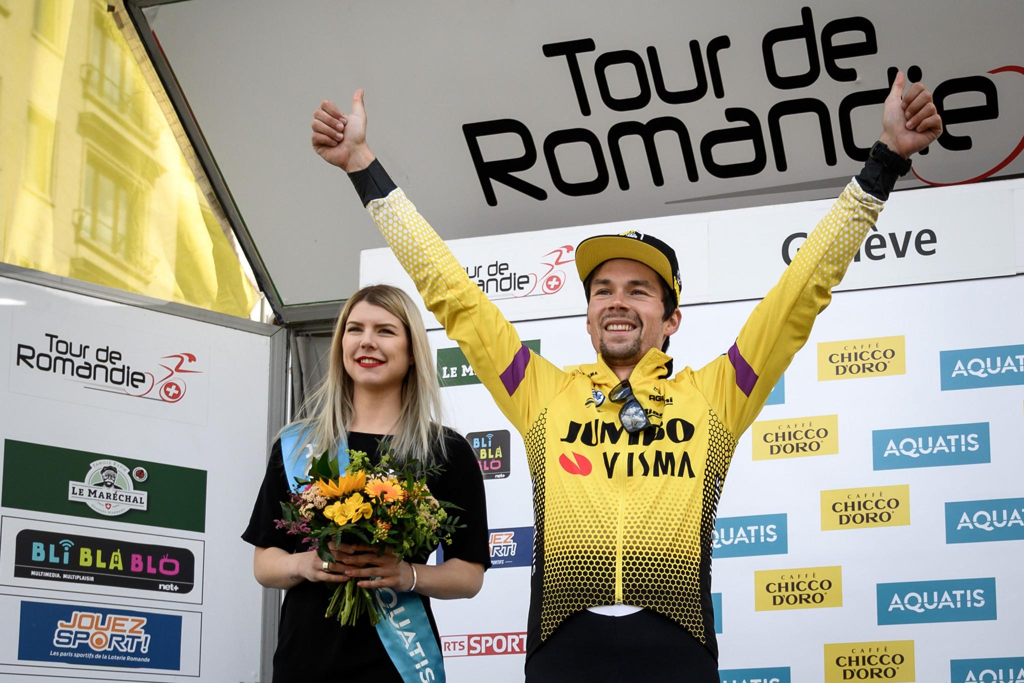 Slovenia's Primož Roglič sealed a second successive overall victory at the Tour de Romandie ©Getty Images