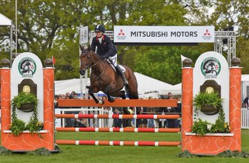 Britain's Piggy French claimed a dramatic victory as she produced a flawless performance in the show jumping phase at the Badminton Horse Trials ©Twitter