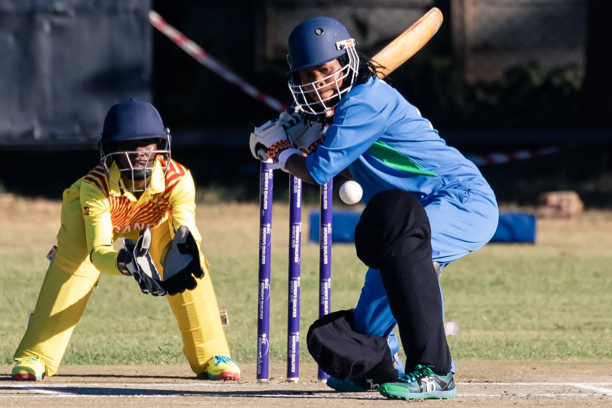 Uganda defeated Sierra Leone at the ICC Women's Qualifier Africa 2019 ©Twitter