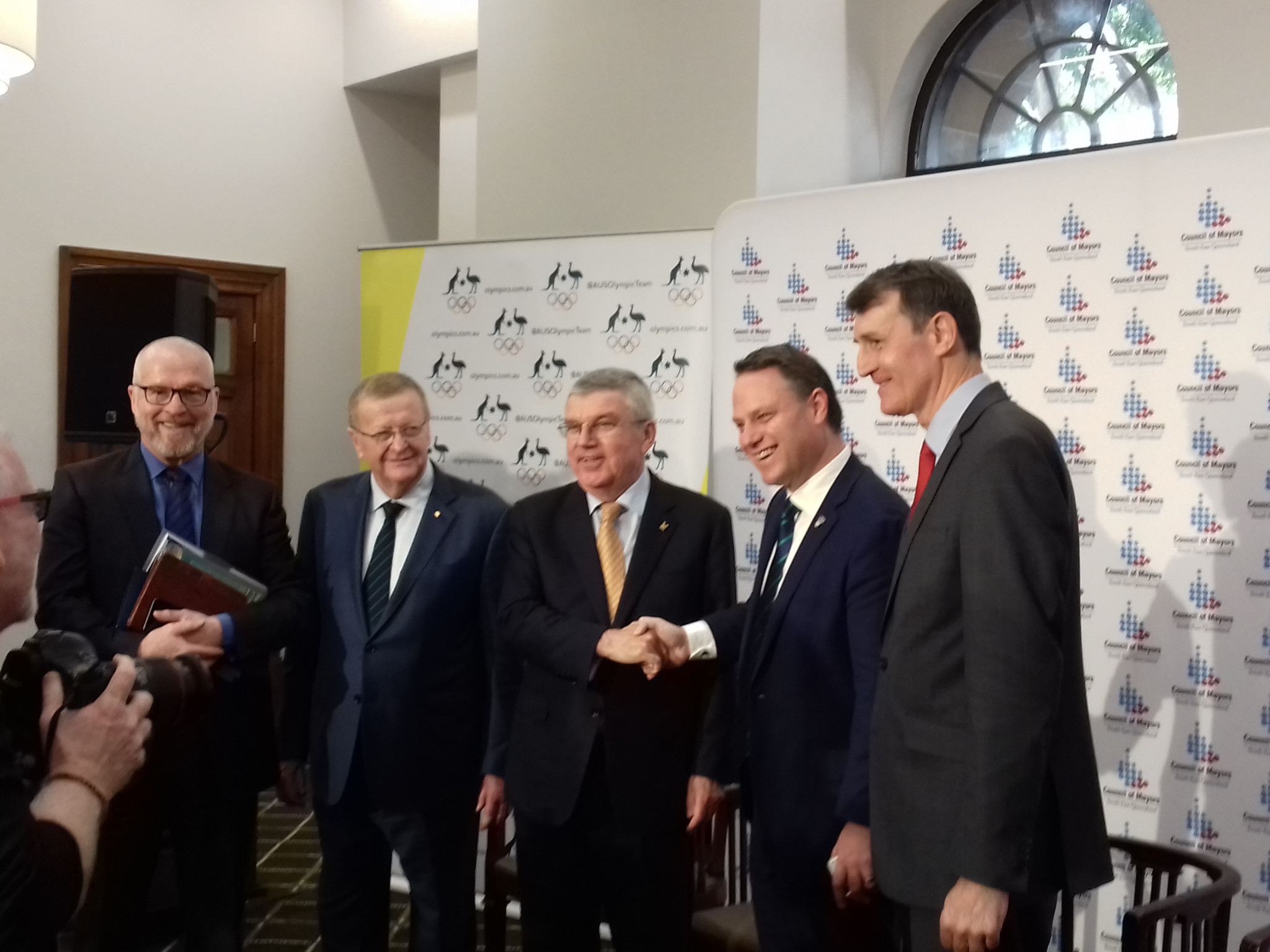 "Bach impressed by South East Queensland plans as Mayors express confidence in ""cost neutral"" Olympic Games"