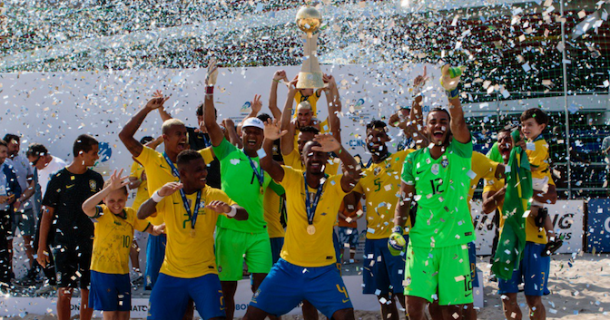 Brazil triumph at CONMEBOL qualifiers for 2019 FIFA Beach Soccer World Cup