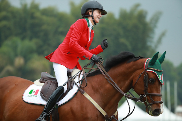 Lorenza O'Farrill was the standout performer for Mexico at the FEI Jumping Nations Cup in front of a home crowd ©FEI