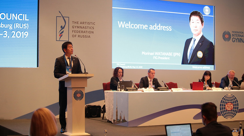 FIG President Morinari Watanabe said format changes would make it easier for countries to host World Championships ©FIG