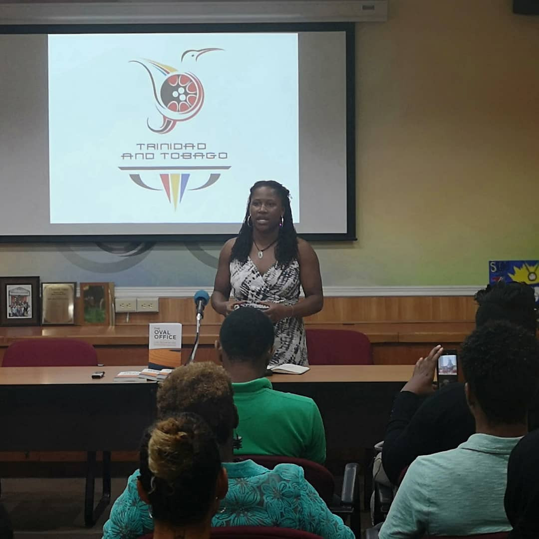 The United States' Lauryn Williams visited Trinidad and Tobago Olympic Committee House in Port of Spain ©Team TTO/Twitter