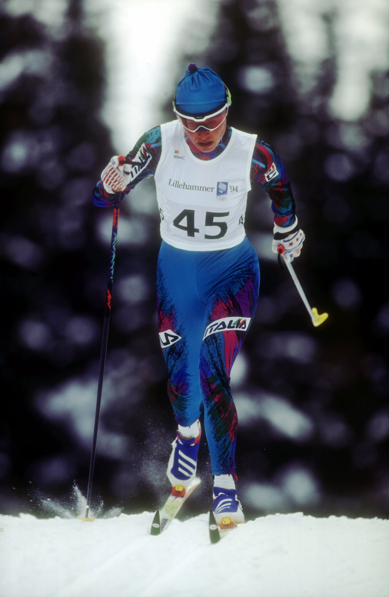Manuela Di Centa won two gold medals at the 1994 Winter Olympic Games in Lillehammer ©Getty Images/Clive Brunskill/ALLSPORT