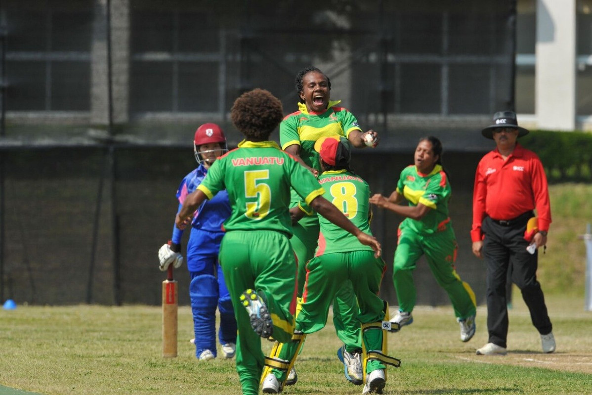 Vanuatu recorded their first victory of the ICC Women's Qualifier EAP 2019 ©Twitter